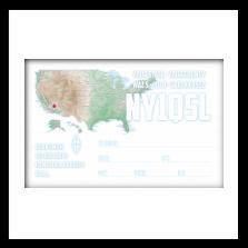 Base QSL back side / NYQsl print. Your QSL printer. NY, USA ... Reverse Usa Map on 1st usa map, broken usa map, license plate usa map,